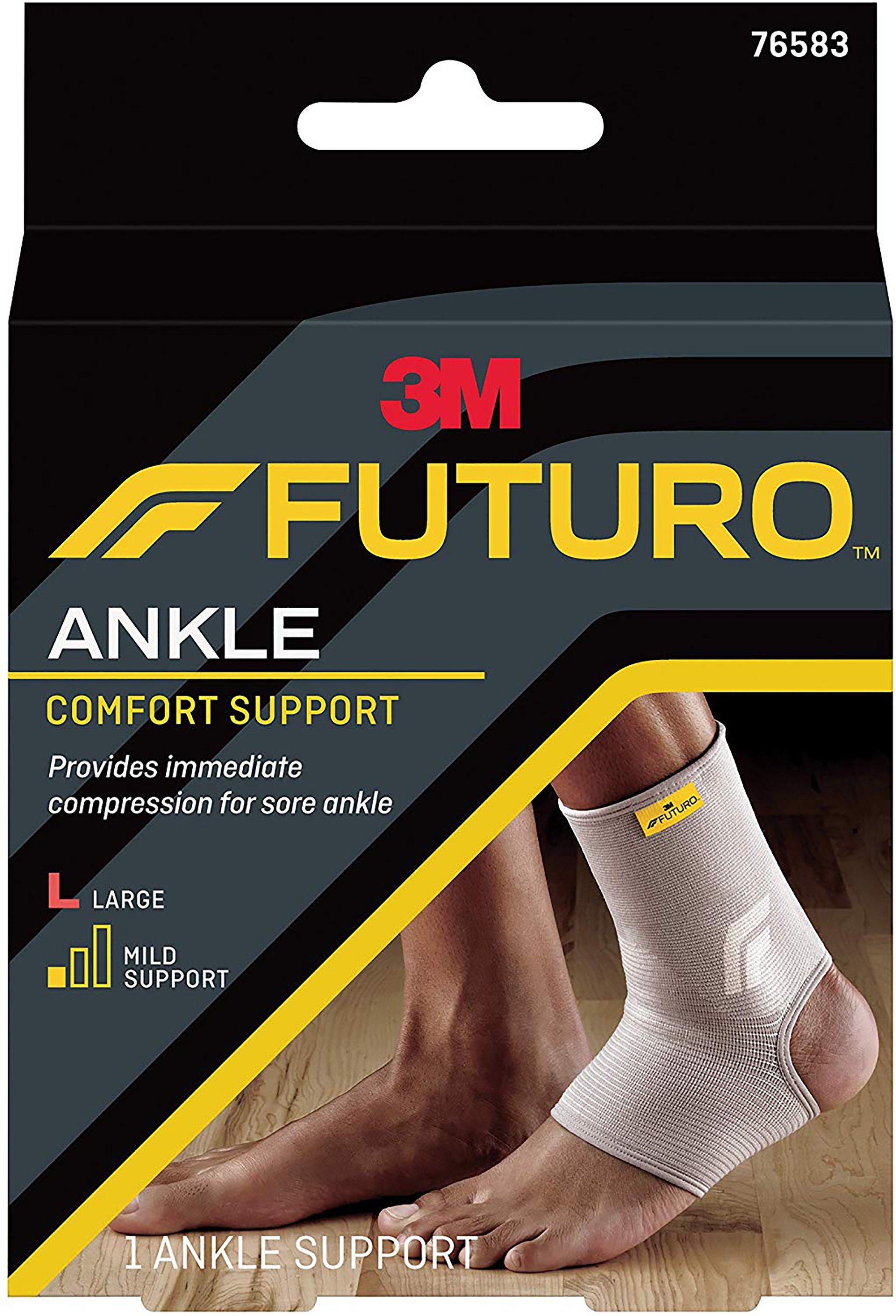 3M Futuro Ankle Comfort Support, 76583ENR, Large - Box of 3
