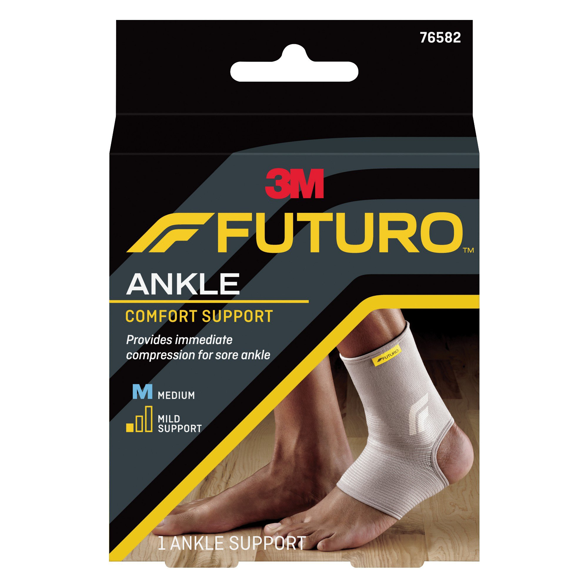 3M Futuro Ankle Comfort Support, 76582ENR, Medium - Box of 3