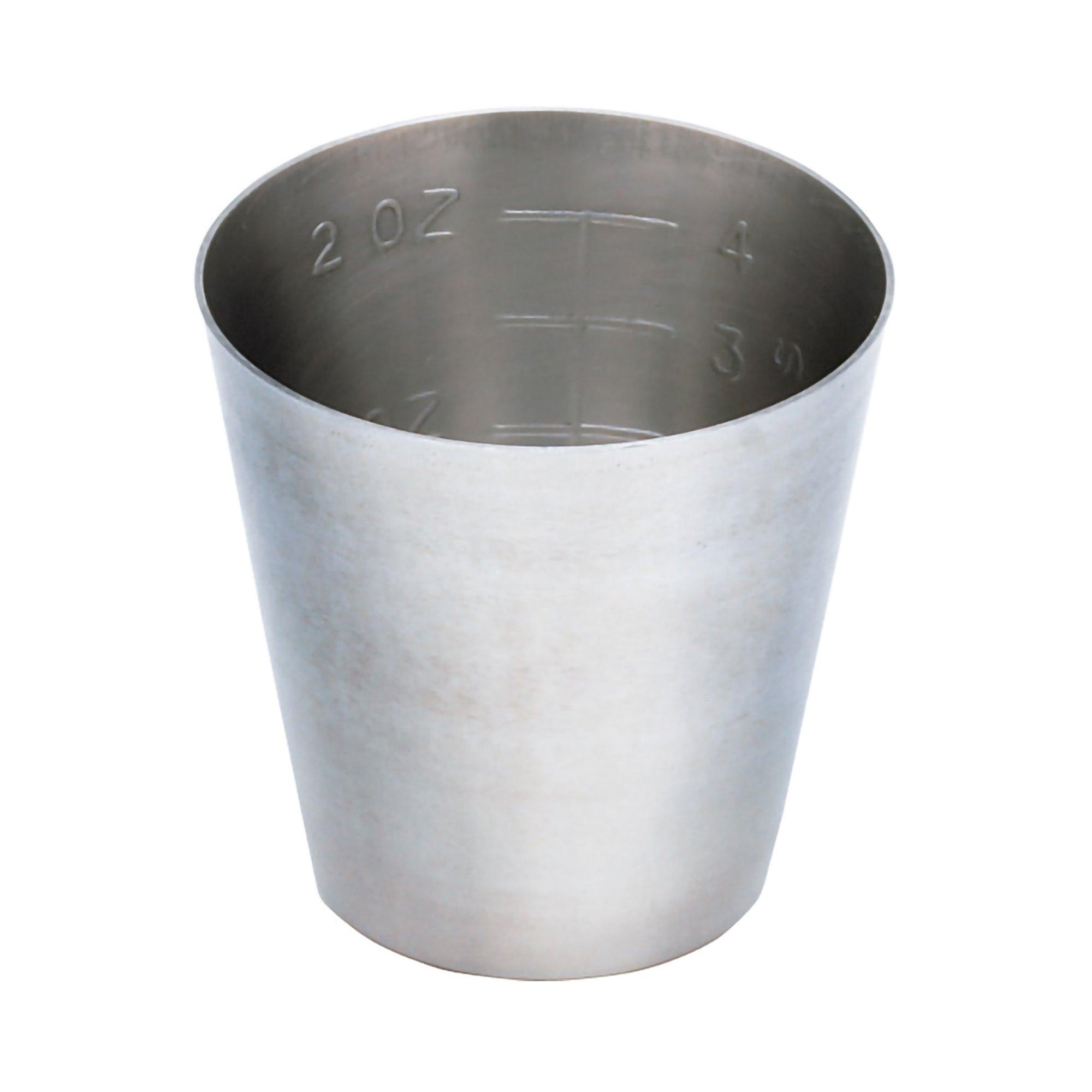 McKesson Argent Medicine Cup, 2oz., Stainless Steel, Reusable, 43-1-015, 1 Each