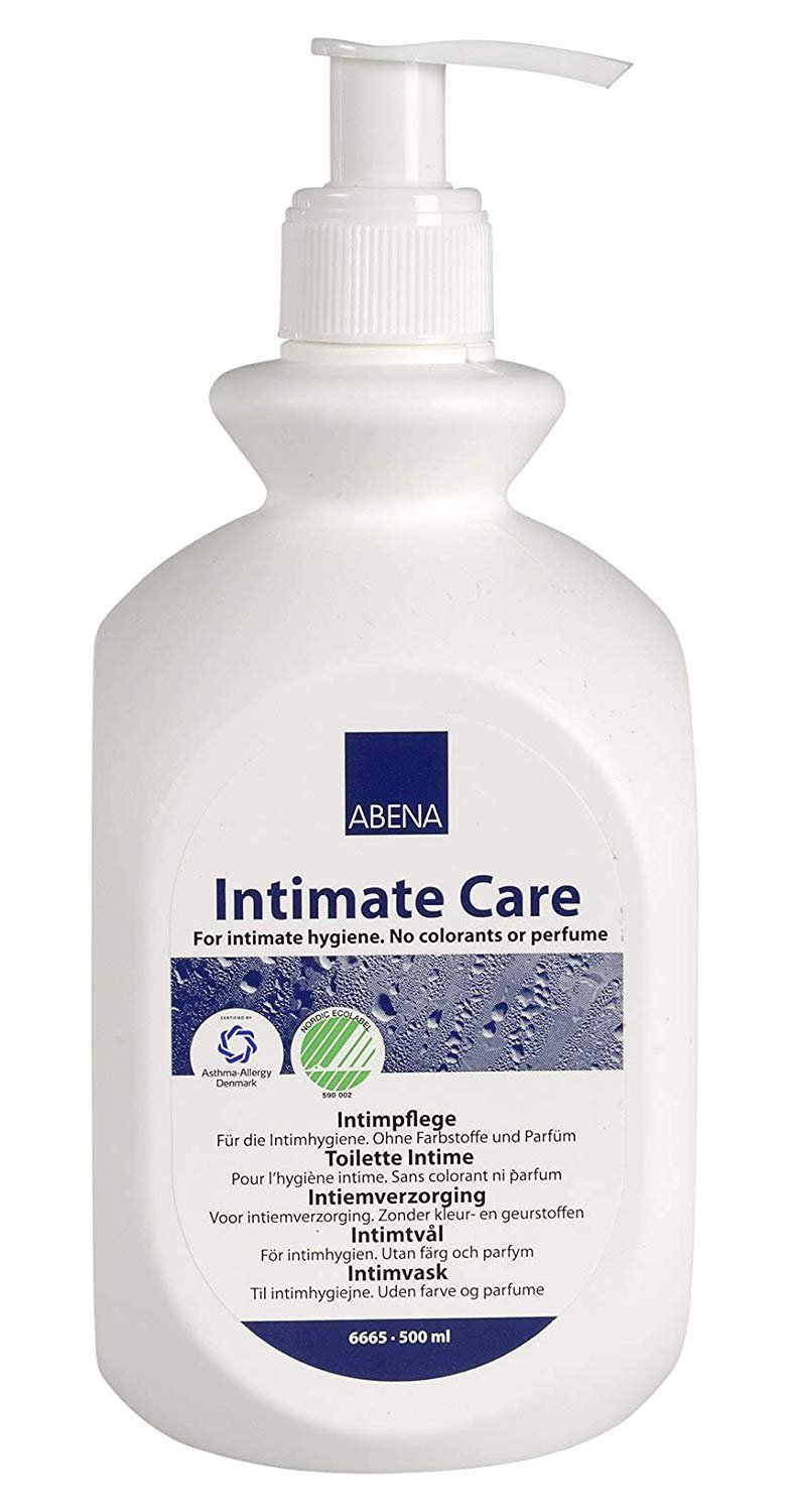 Abena Intimate Care for Intimate Hygiene, No Colorants or Perfume, 500 mL, 6665, Case of 6