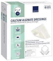 """Abena Calcium Alginate Dressings, 4 X 4"""", 2615, Carton of 10"""