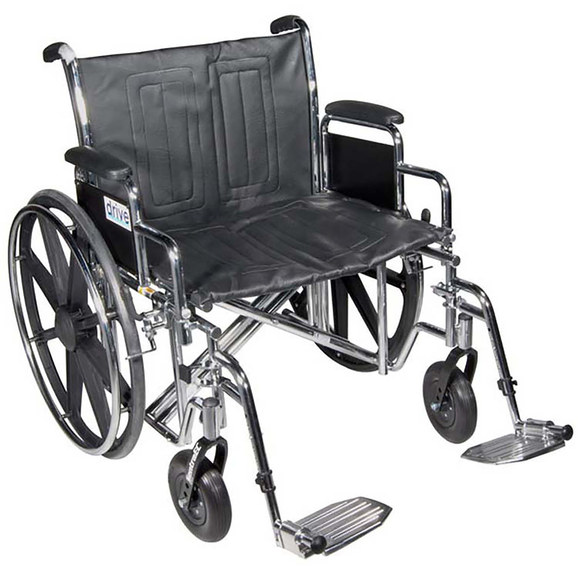 "drive Bariatric Sentra EC Heavy-Duty Wheelchair, Full Length Arm, Swing-Away Footrest, STD22ECDFA-SF, 22"" Seat Width - 1 Each"