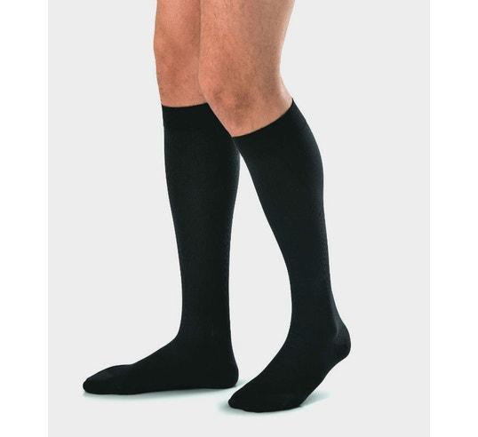 JOBST for Men Knee High Ribbed Compression Socks, 115003, Black - X-Large - 1 Pair