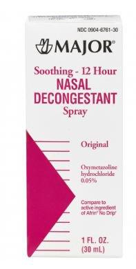 Major Soothing 12 Hour Nasal Decongestant Spray, 00904676130, 1 Each