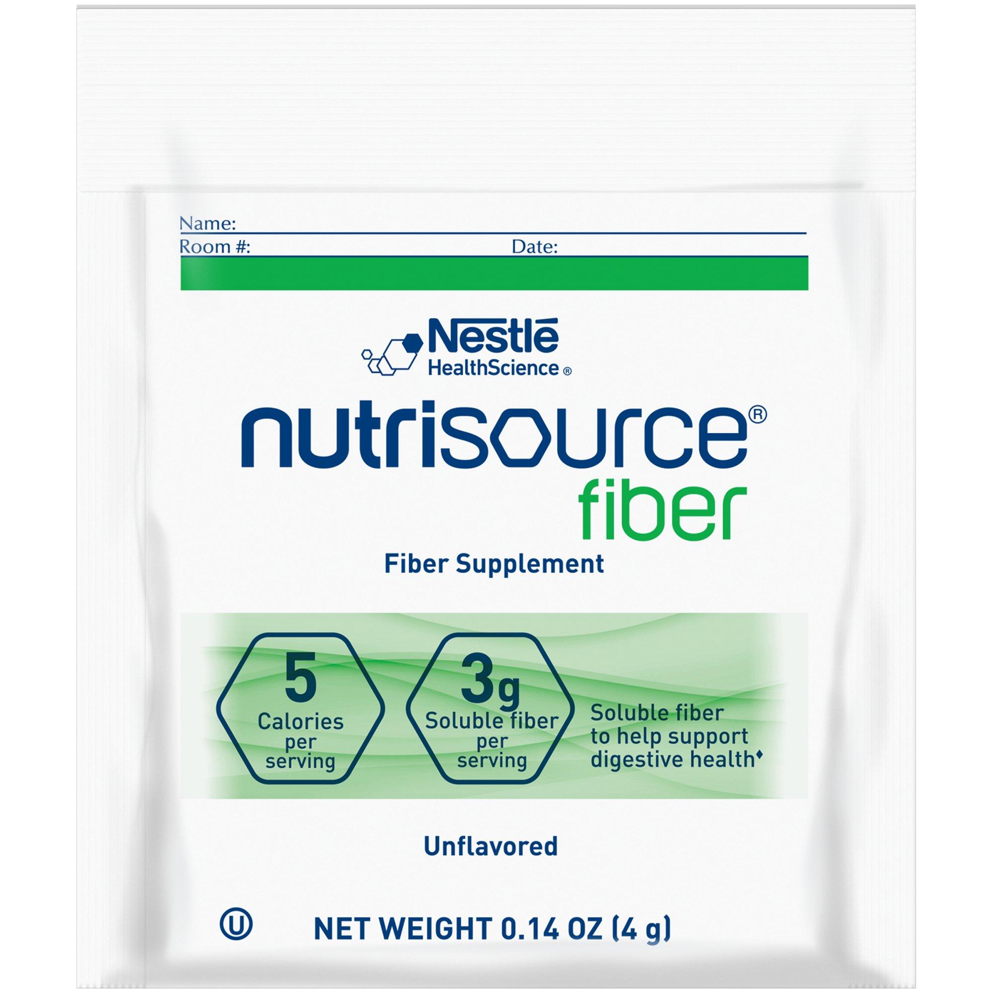 Nestle HealthScience Nutrisource fiber Fiber Supplement Powder, Unflavored, 4 grams  , 10043900976485, Case of 75