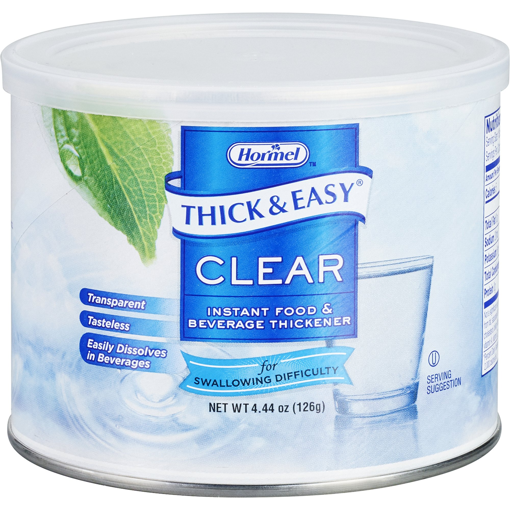 Thick & Easy Clear Food and Beverage Thickener, 4.4 oz. Canister, 25544, Case of 4