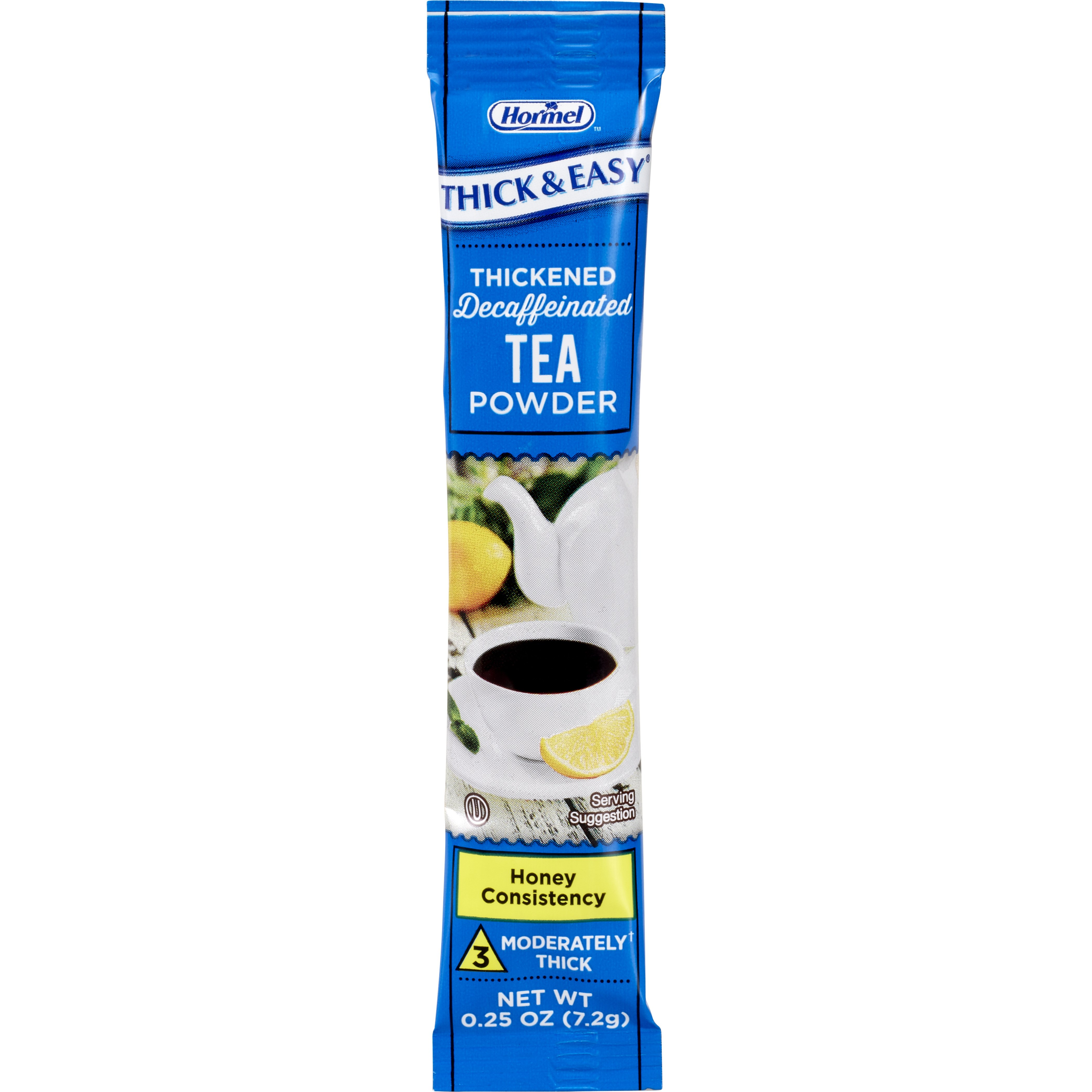 Thick & Easy Decaffeinated Tea Honey Consistency Thickened Beverage, ¼ oz. Packet of Powder, 81332, Case of 72
