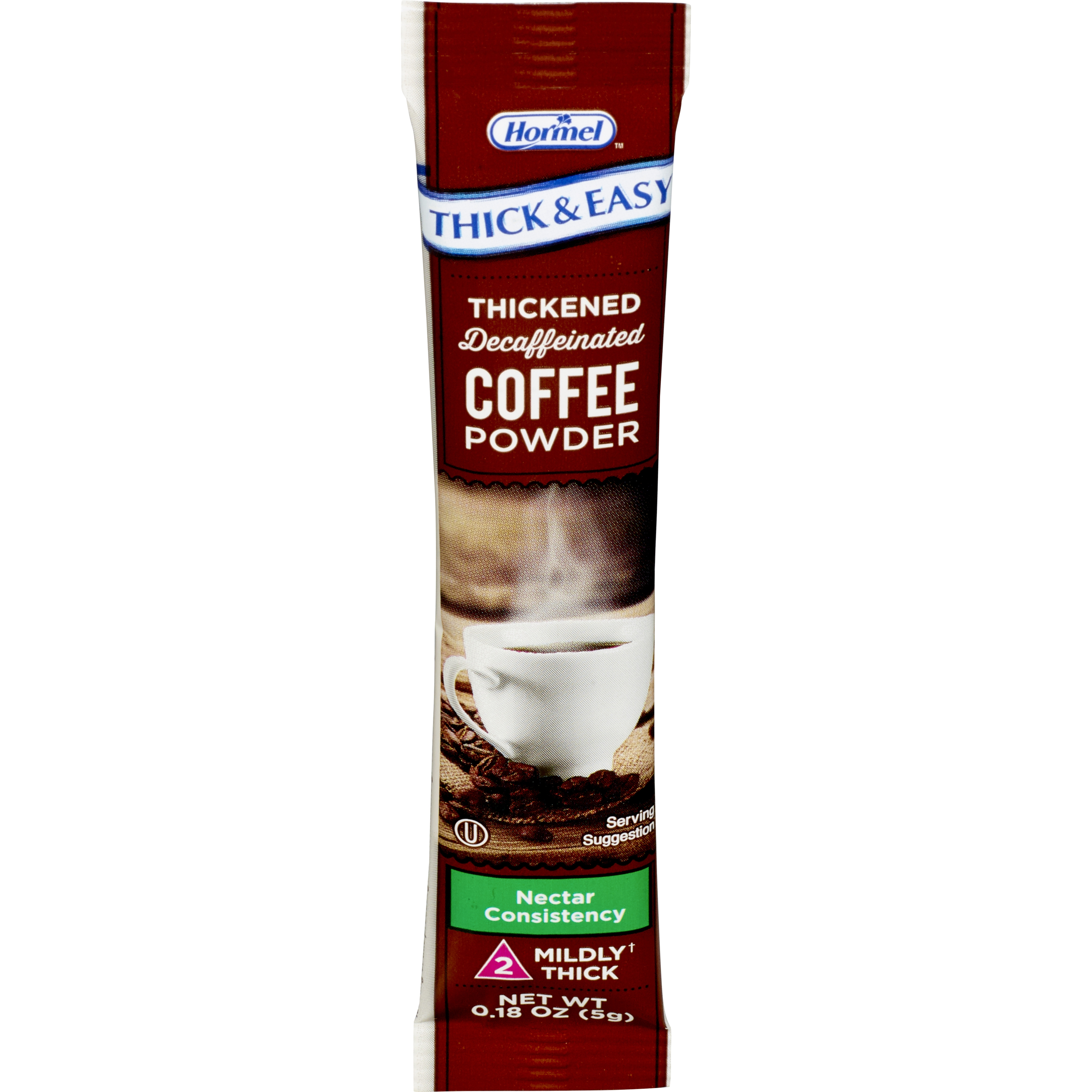 Thick & Easy Nectar Consistency Coffee Thickened Decaffeinated Beverage, 7 Gram, 81331, Case of 72