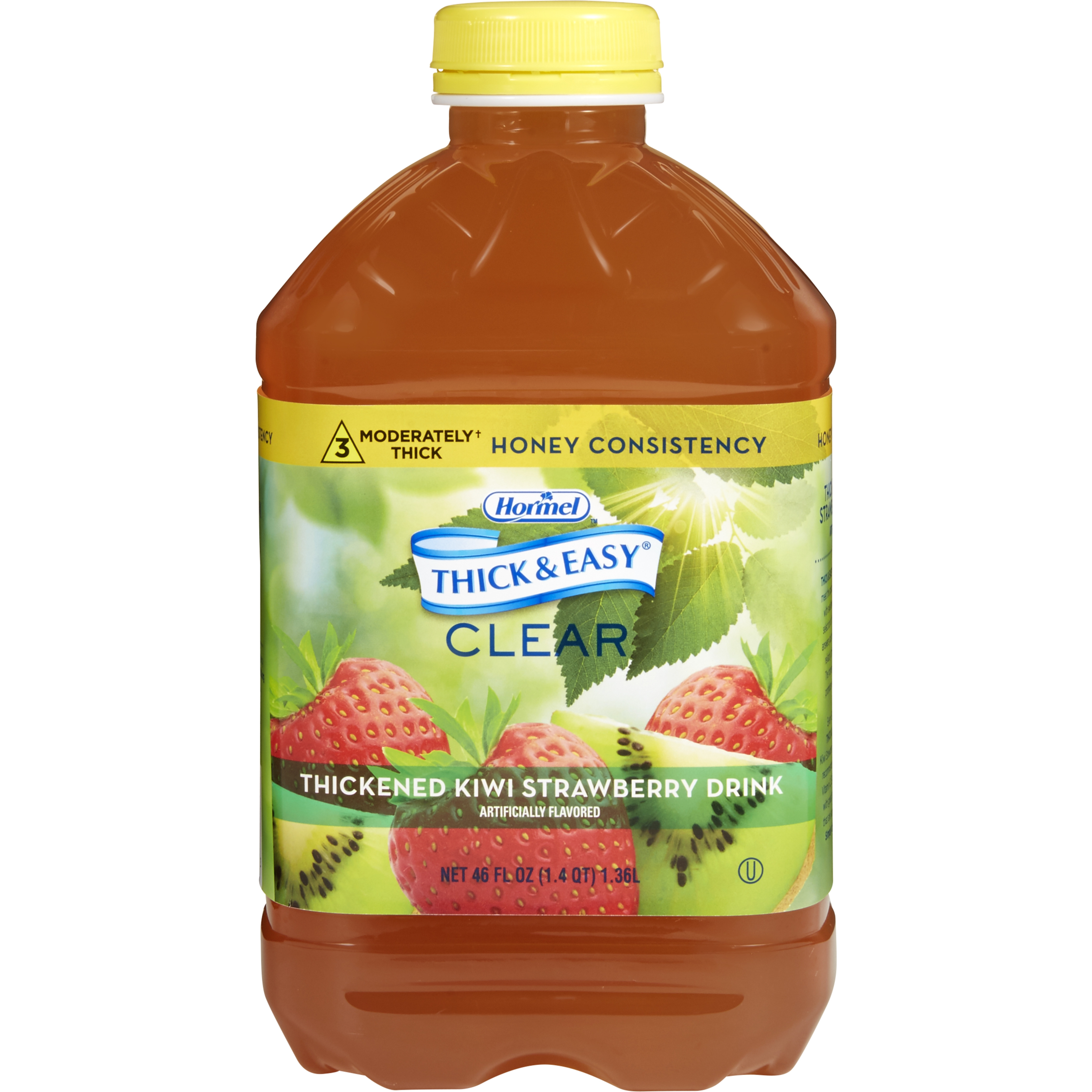 Thick & Easy Clear Honey Consistency Kiwi Strawberry Thickened Beverage, 46 oz. Bottle, 11840, 1 Each