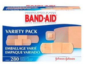 Band-Aid Brand Adhesive Bandages Variety Pack, Assorted Shapes, 10381370047114, Box of 280