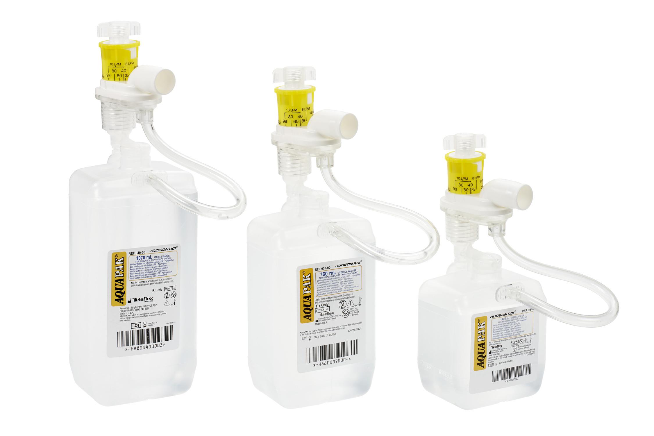 Aquapak Nebulizer Sterile Water Prefilled Nebulizer, 044-33, 440 mL - Case of 20