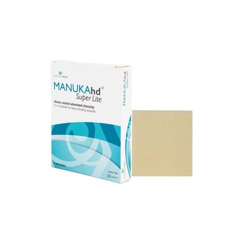 "MANUKAhd Super Lite Honey Coated Absorbent Dressing, 4 X 5"", MM0071, Box of 10"