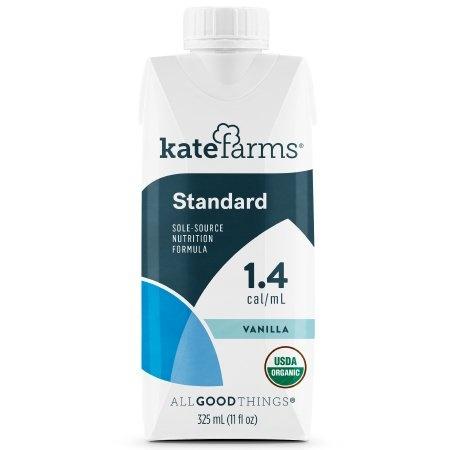 Kate Farms Standard 1.4 Sole-Source Nutrition Formula, Vanilla Nutrition Facts