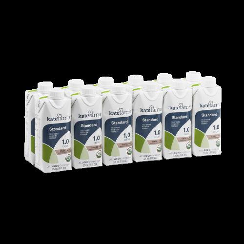 Kate Farms Standard 1.0 Sole-Source Nutrition Formula, Chocolate, 11 oz., 851823006690, Case of 12