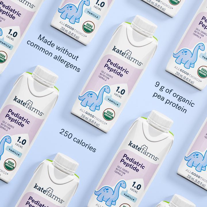 Kate Farms Pediatric Peptide 1.0 Sole-Source Nutrition Formula, Vanilla, 8.45 oz., 811112030539