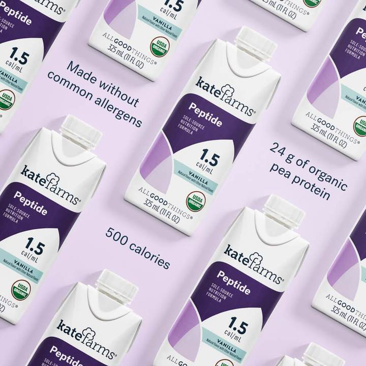 Kate Farms Peptide 1.5 Sole-Source Nutrition Formula, Vanilla, 11 oz., 851823006386