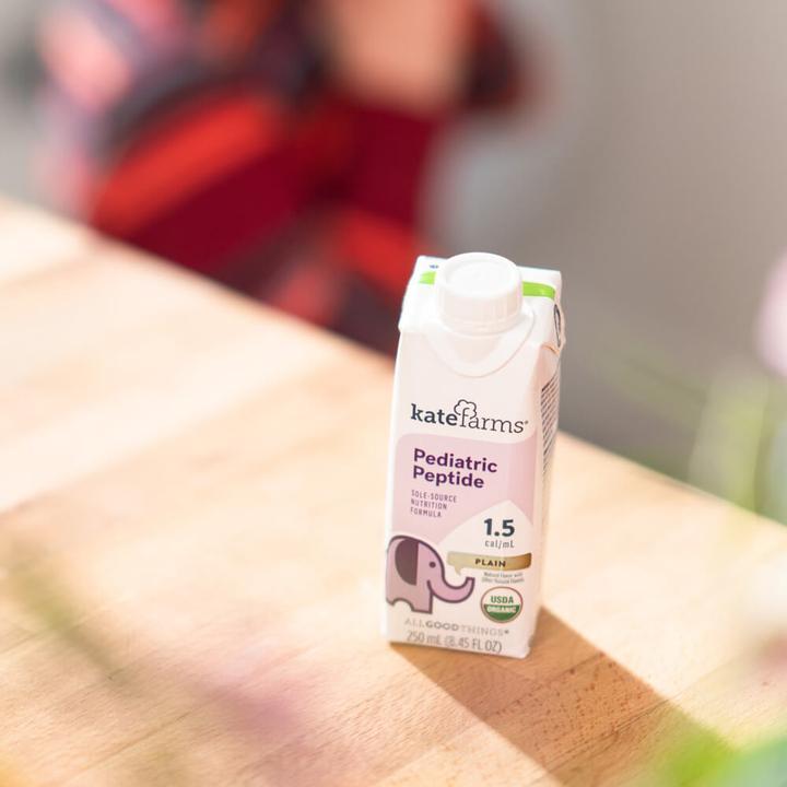 Kate Farms Pediatric Peptide 1.5 Sole-Source Nutrition Formula, Plain, 8.45 oz., 811112030706