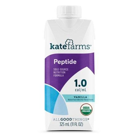 Kate Farms Peptide 1.0 Sole-Source Nutrition Formula, Vanilla, 11 oz., 811112030553, 1 Each