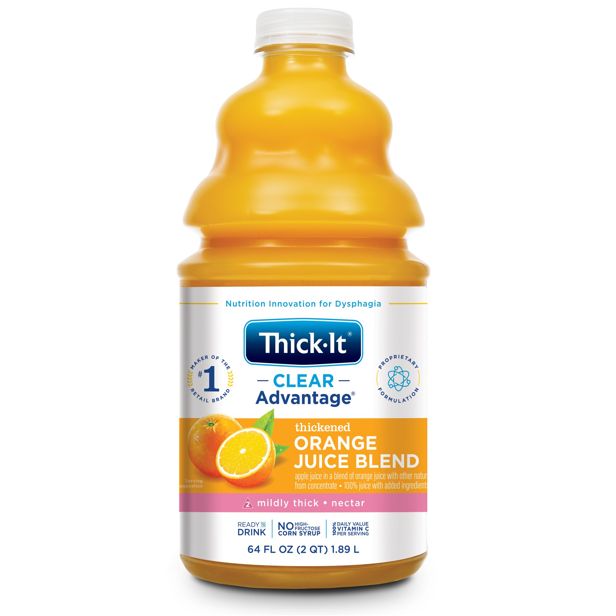Thick-It Clear Advantage Thickened Orange Juice Blend, Mildly Thick, Nectar Consistency, B477-A5044, 64 oz. - 1 Each