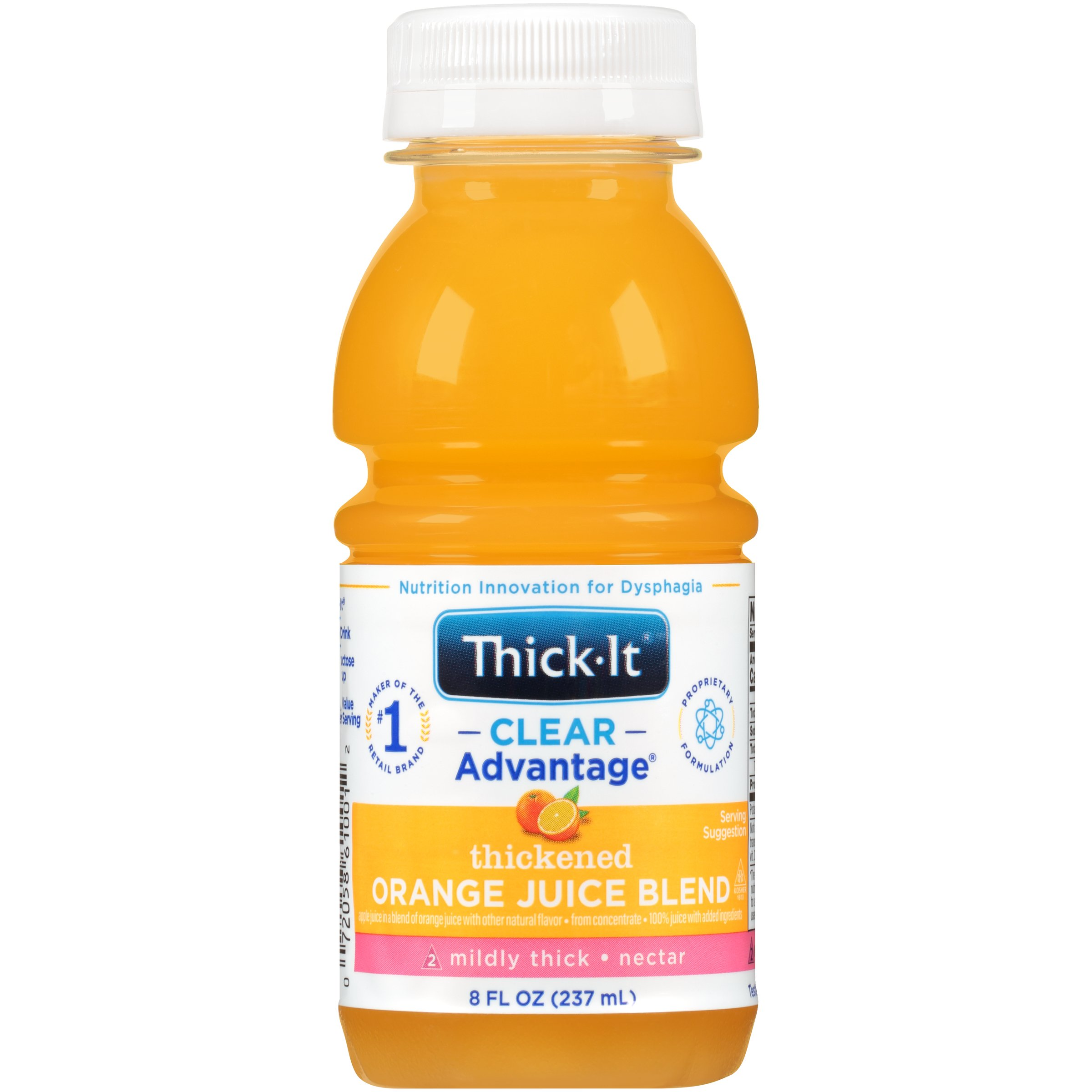Thick-It Clear Advantage Thickened Orange Juice Blend, Mildly Thick, Nectar Consistency, B476-L9044, 8 oz. - Case of 24