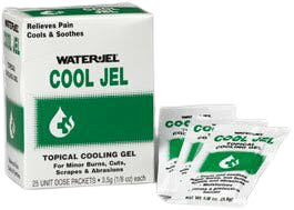 Water-Jel Cool Jel Topical Cooling Gel, CJ25-600.00.000, Box of 25