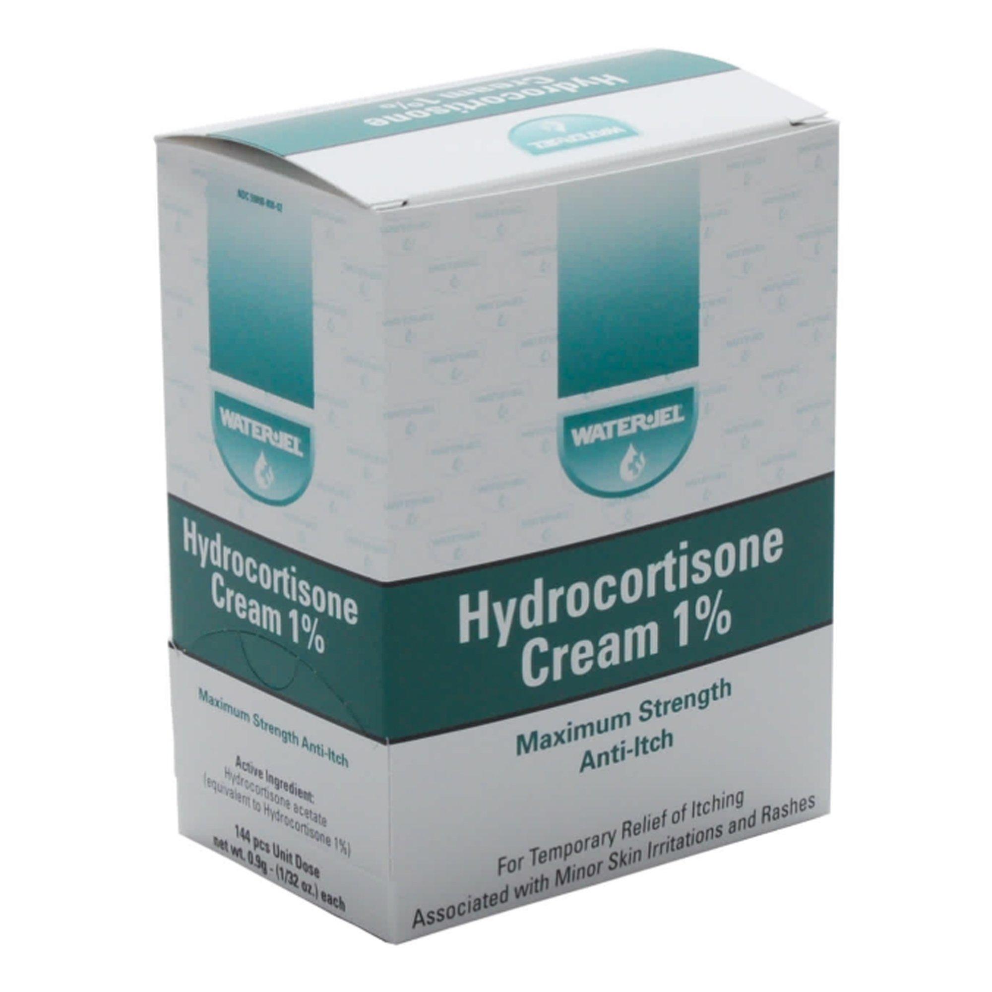 Water-Jel Hydrocortisone Cream, 1% Maximum Strength, WJHY1728, Box of 144