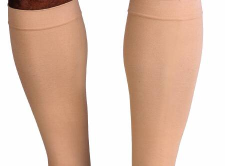 """JOBST Relief Knee High Compression Stocking, Closed Toe, 114620, Beige - Small (Ankle 7-8.2""""/Calf Up to18.5"""") - 1 Pair"""