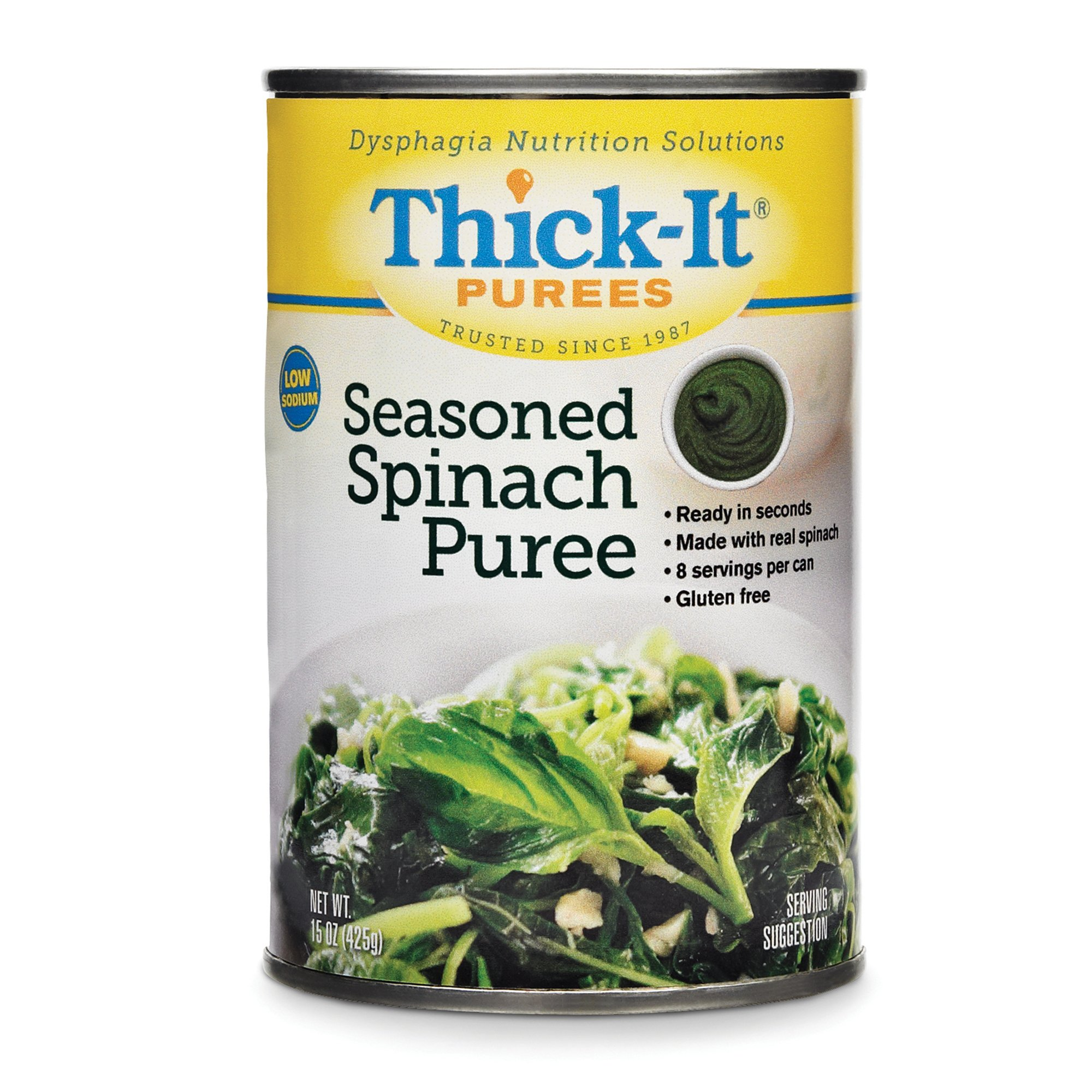 Thick-It Purees Seasoned Spinach Puree, 15 oz., H320-F8800, Case of 12