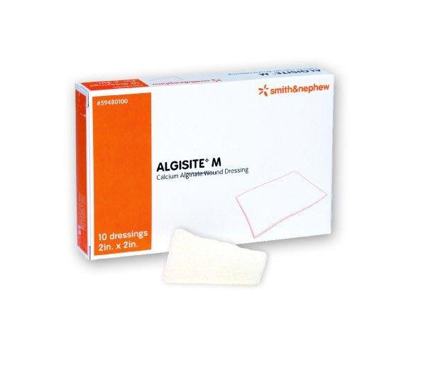 """AlgiSite M Calcium Alginate Wound Dressing, 2 X 2"""", 59480100, Box of 10"""