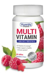 YumVs Complete Multi Vitamin, Raspberry Flavor, 60 Jellies, 9057-06, 1 Bottle