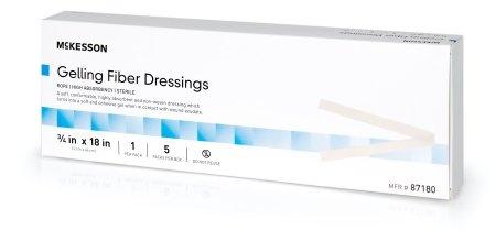 "McKesson Gelling Fiber Dressings, Rope, 3/4 X 18"", 87180, Box of 5"