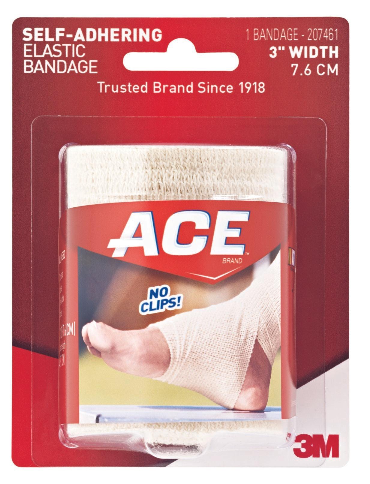 "3M ACE Self-Adhering Foot Compression Elastic Bandages, 207461, 3"" X 5' - Box of 3"