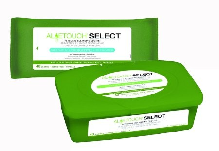 AloeTouch Select Personal Cleansing Cloths, Aloe Scented, MSC095280, Pack of 24