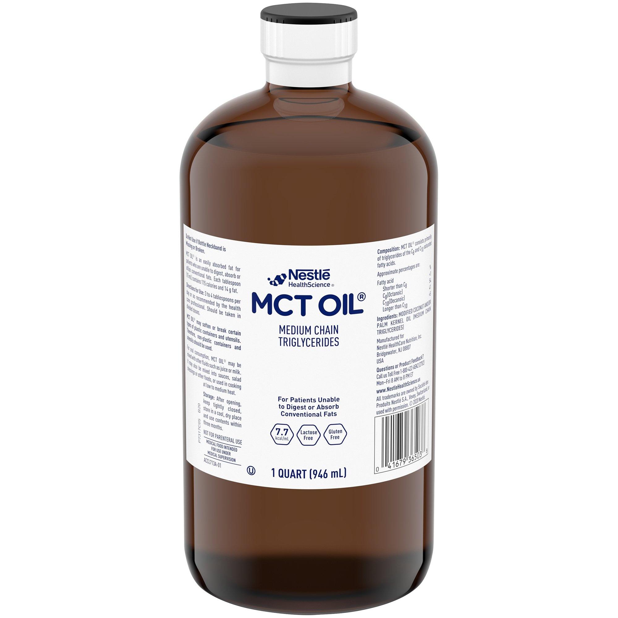 Nestle HealthScience MCT Oil, Unflavored, 32 oz., 00041679365137, 1 Bottle