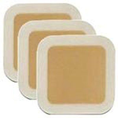 """Molnlycke Mepilex Silicone Adhesive without Border Silicone Foam Dressing, 4 X 5"""", 294090, Box of 5"""