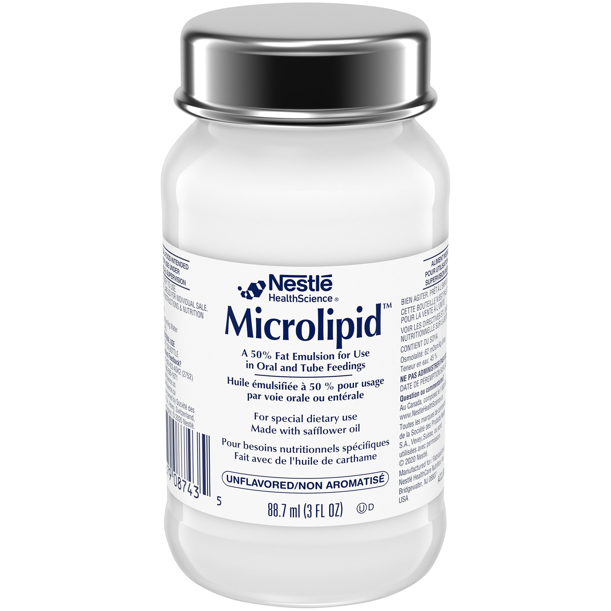 Nestle HealthScience Microlipid, Unflavored, 3 oz., 00041679087022, 1 Bottle