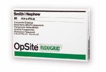 "Smith & Nephew OpSite Flexigrid Transparent Film Dressing, 4 X 4.75"", 66024630, Box of 50"