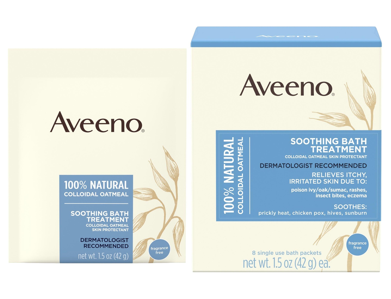 Aveeno Soothing Oatmeal Bath Treatment, 1.5 oz. Packet, 10381370036408, Box of 8