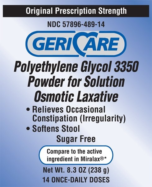Geri-Care Polyethylene Glycol 3350 Powder for Solution Osmotic Laxative, 57896048914, 8.3 oz. - 1 Bottle