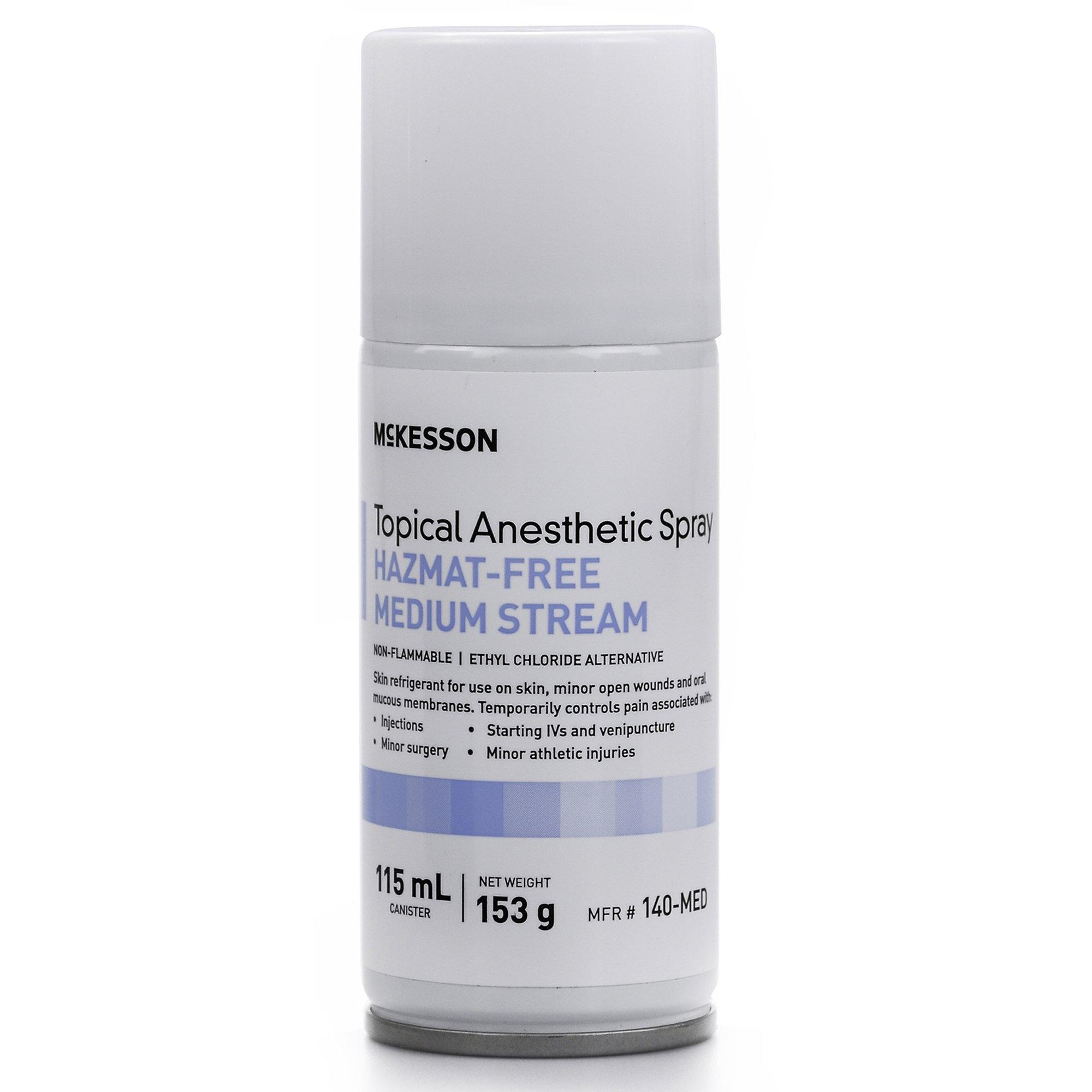 McKesson Hazmat-Free Medium Stream Topical Anesthetic Spray, 115 mL, 140-MED, 1 Bottle