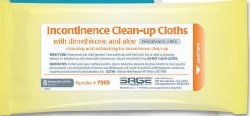 Sage Incontinence Clean-Up Cloths with Dimethicone and Aloe, 7505, Case of 30