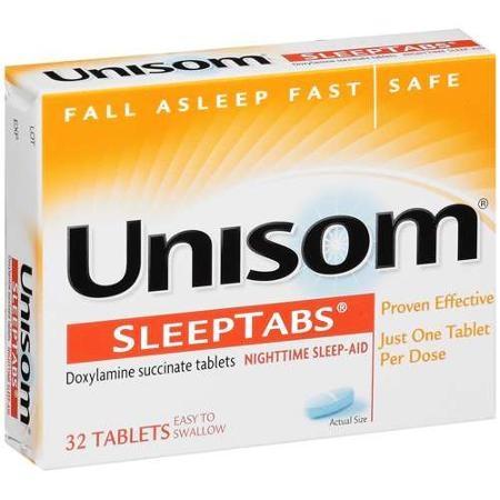 Unisom SleepTabs Nighttime Sleep-Aid, 25 mg, 32 Tablets, 41167000609, 1 Bottle