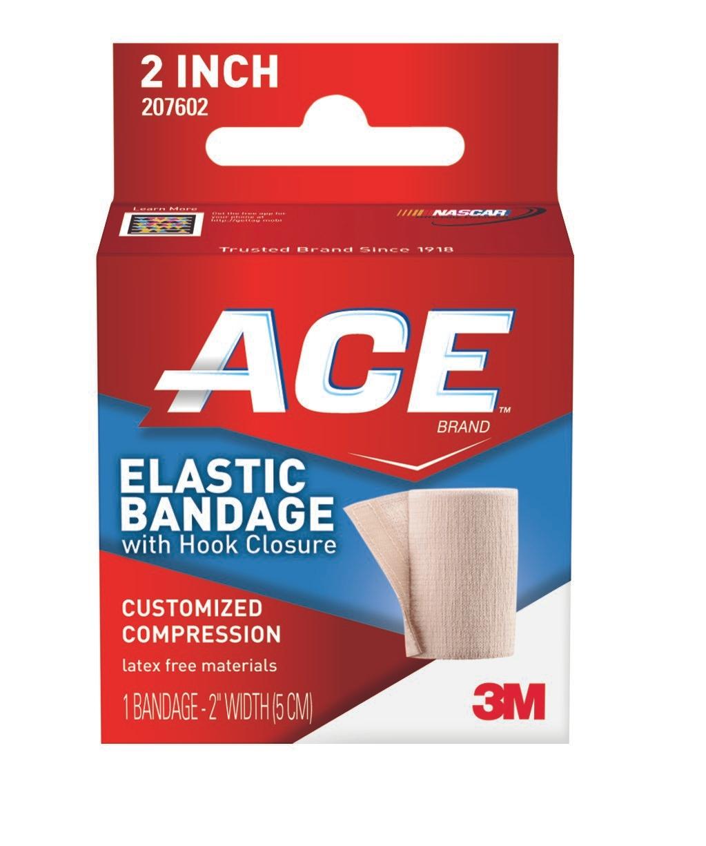 "3M ACE Elastic Bandage with Hook Closure, 2"" X 4.2', 207602, 1 Each"