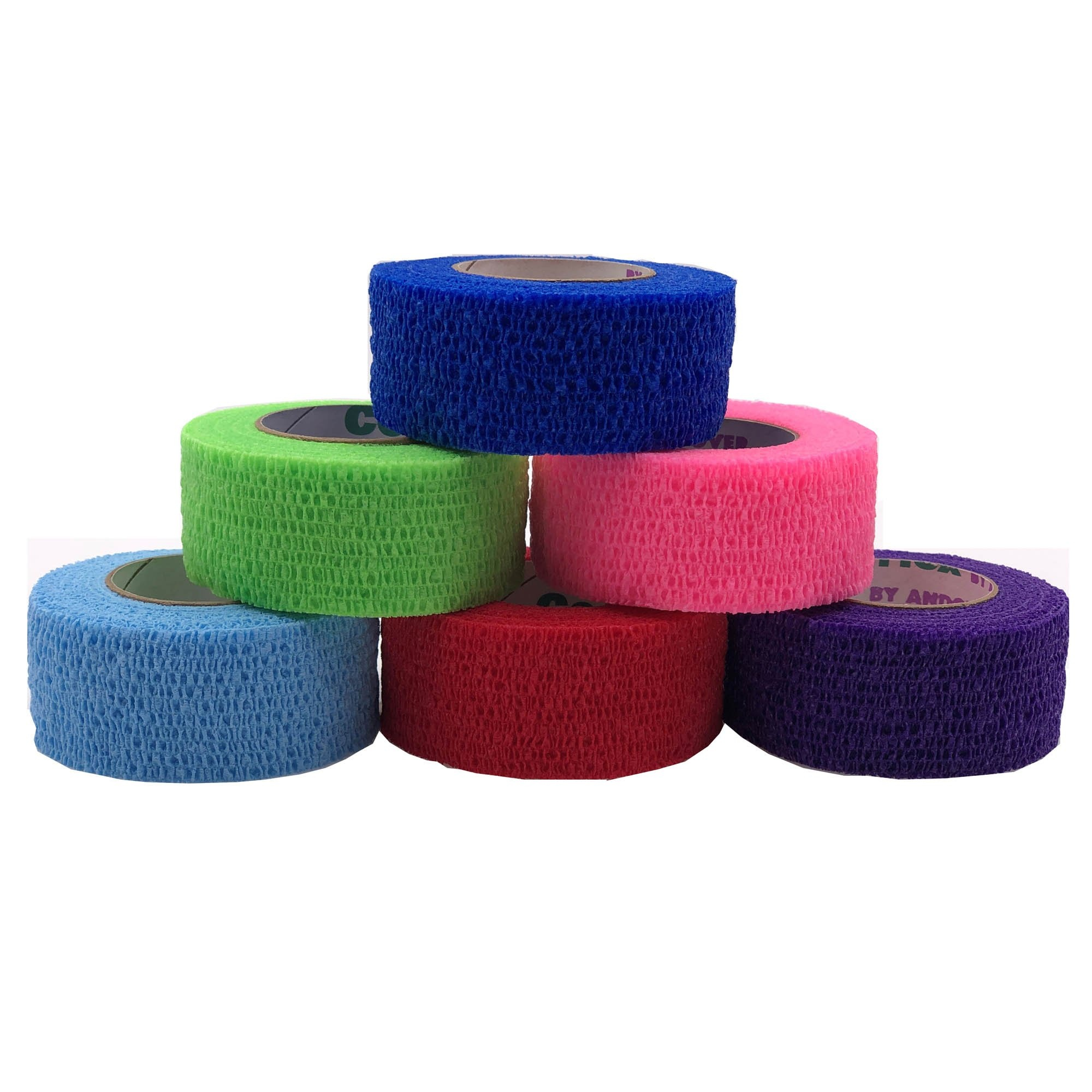 """Andover Coated Products CoFlex Med Cohesive Bandage, Multiple Colors, 2"""" x 5 yds, 7200CP, Case of 36"""
