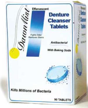 Dawn Mist Denture Cleanser Tablets with Baking Soda, 90 Tablets, DEN6290, 1 Box