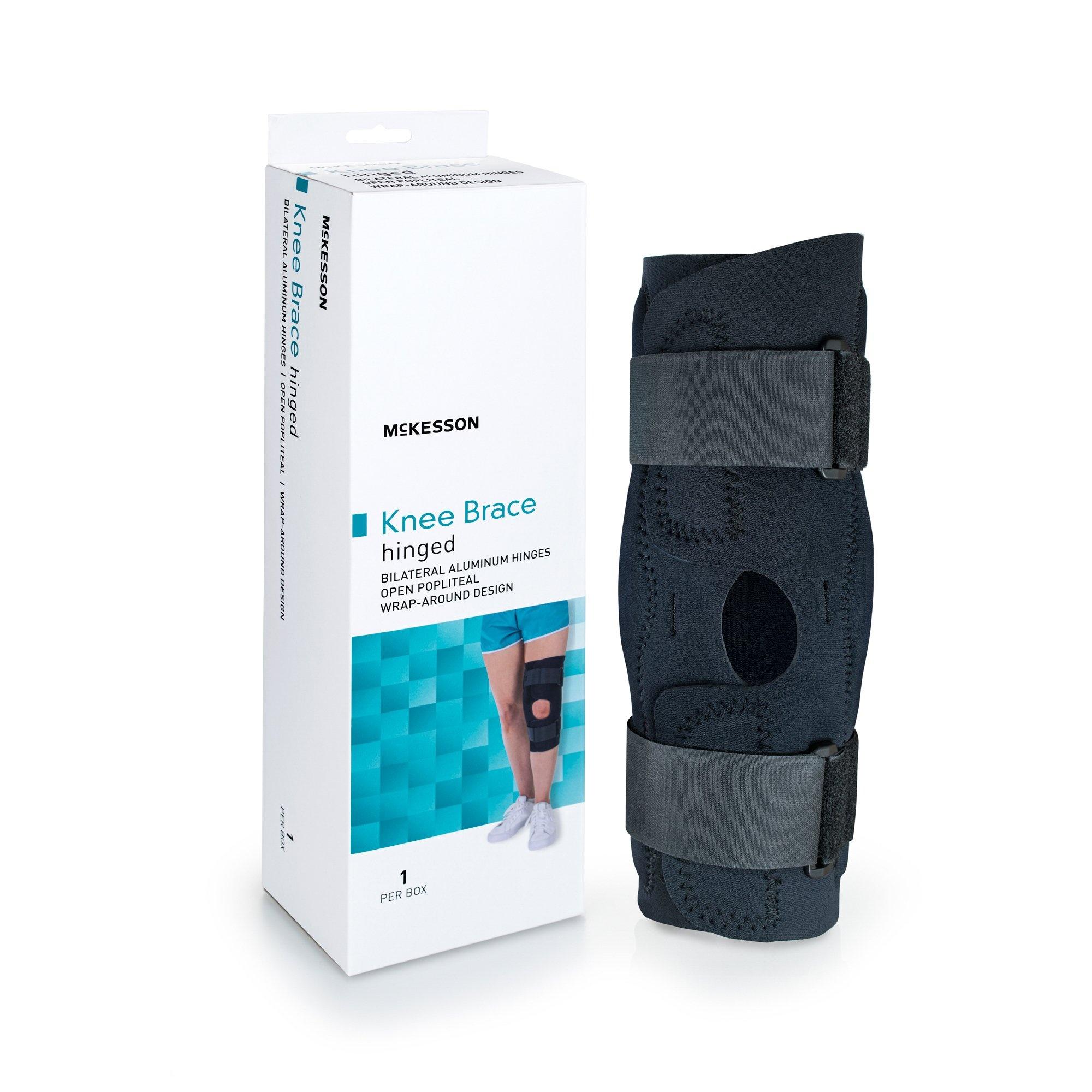 """McKesson Hinged Knee Brace, 155-81-82395, Medium (18-20.5"""") - 1 Each"""