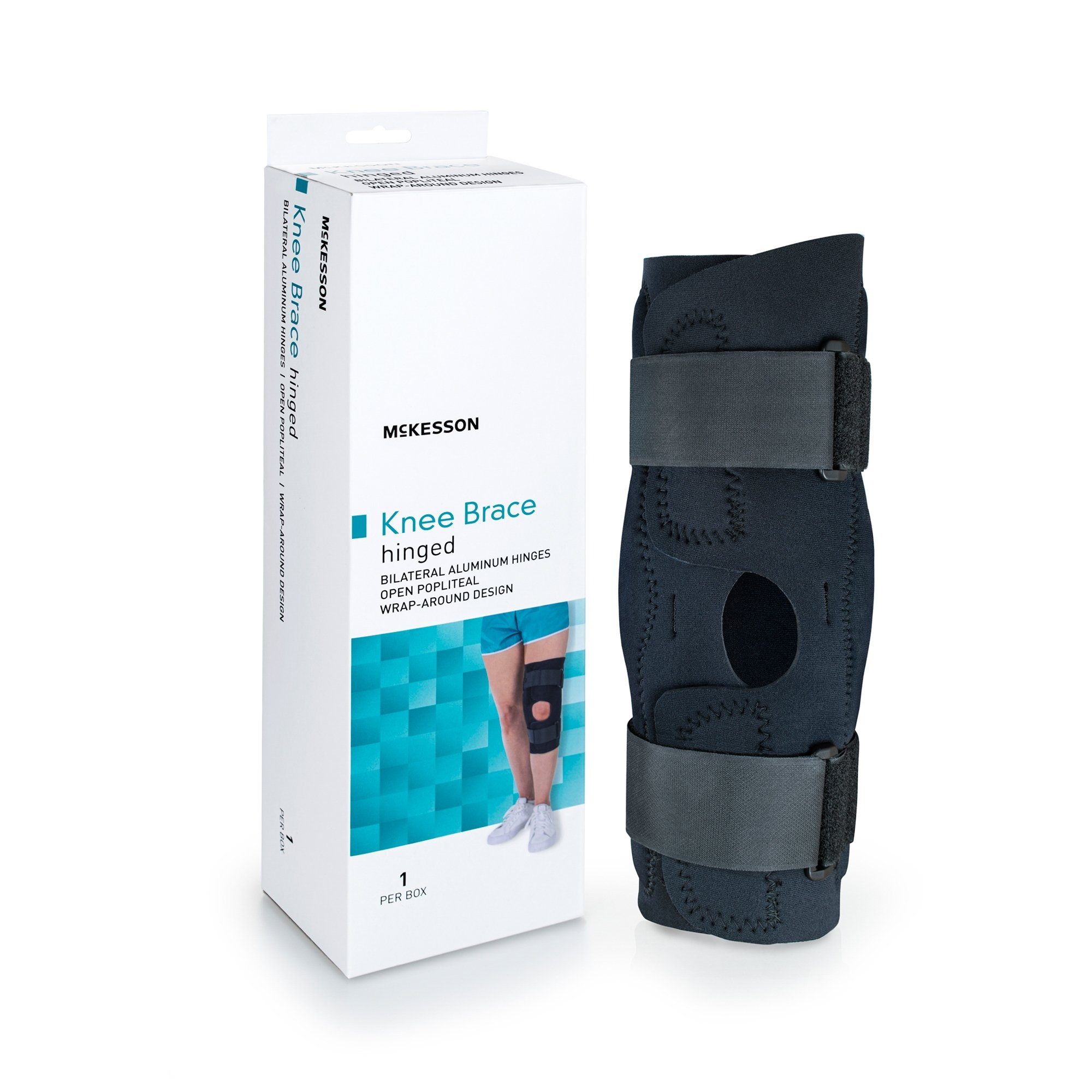 "McKesson Hinged Knee Brace, 155-81-82398, XL (23-25.5"") - 1 Each"
