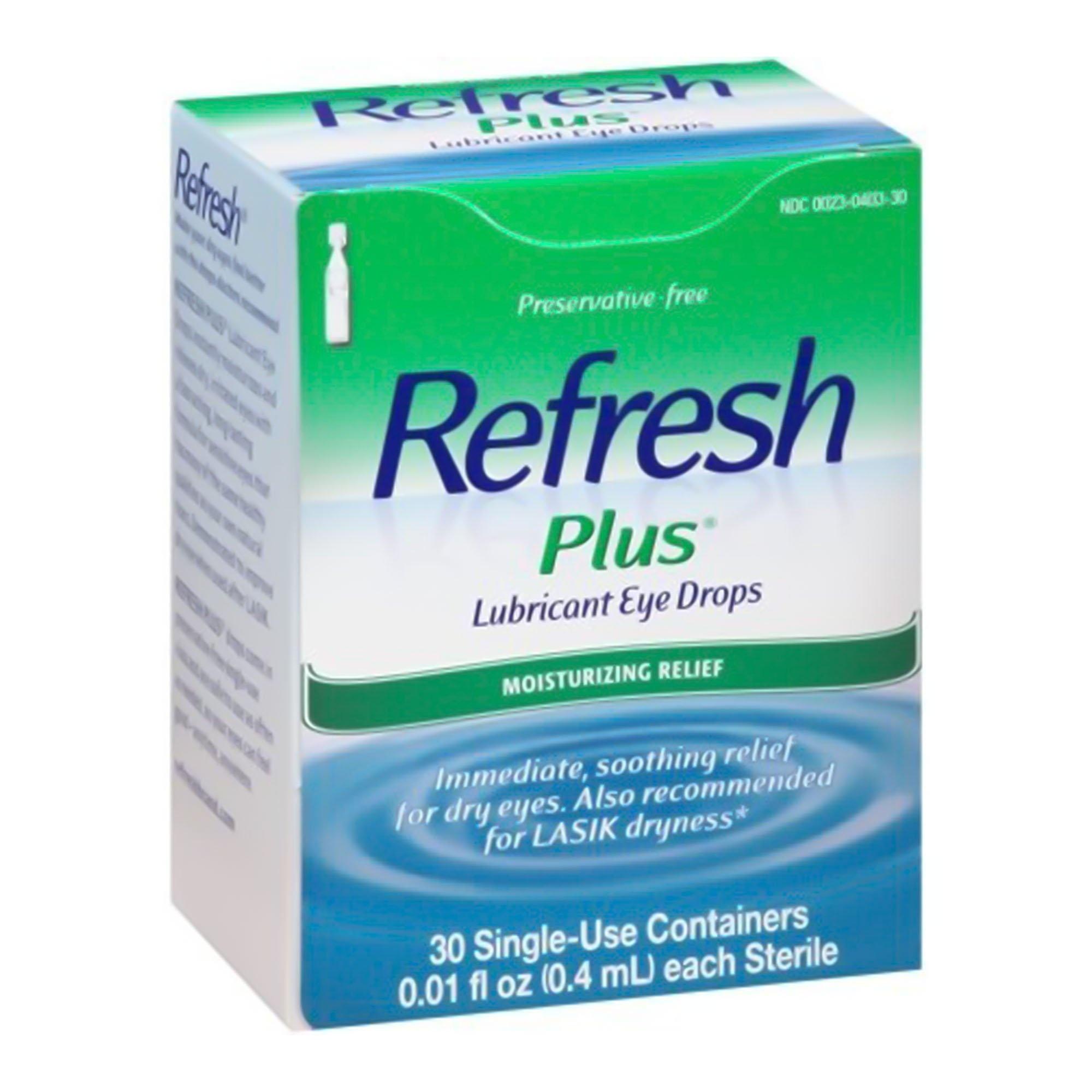 Refresh Plus Lubricant Eye Drops, 00023040330, 0.01 oz. - Box of 30