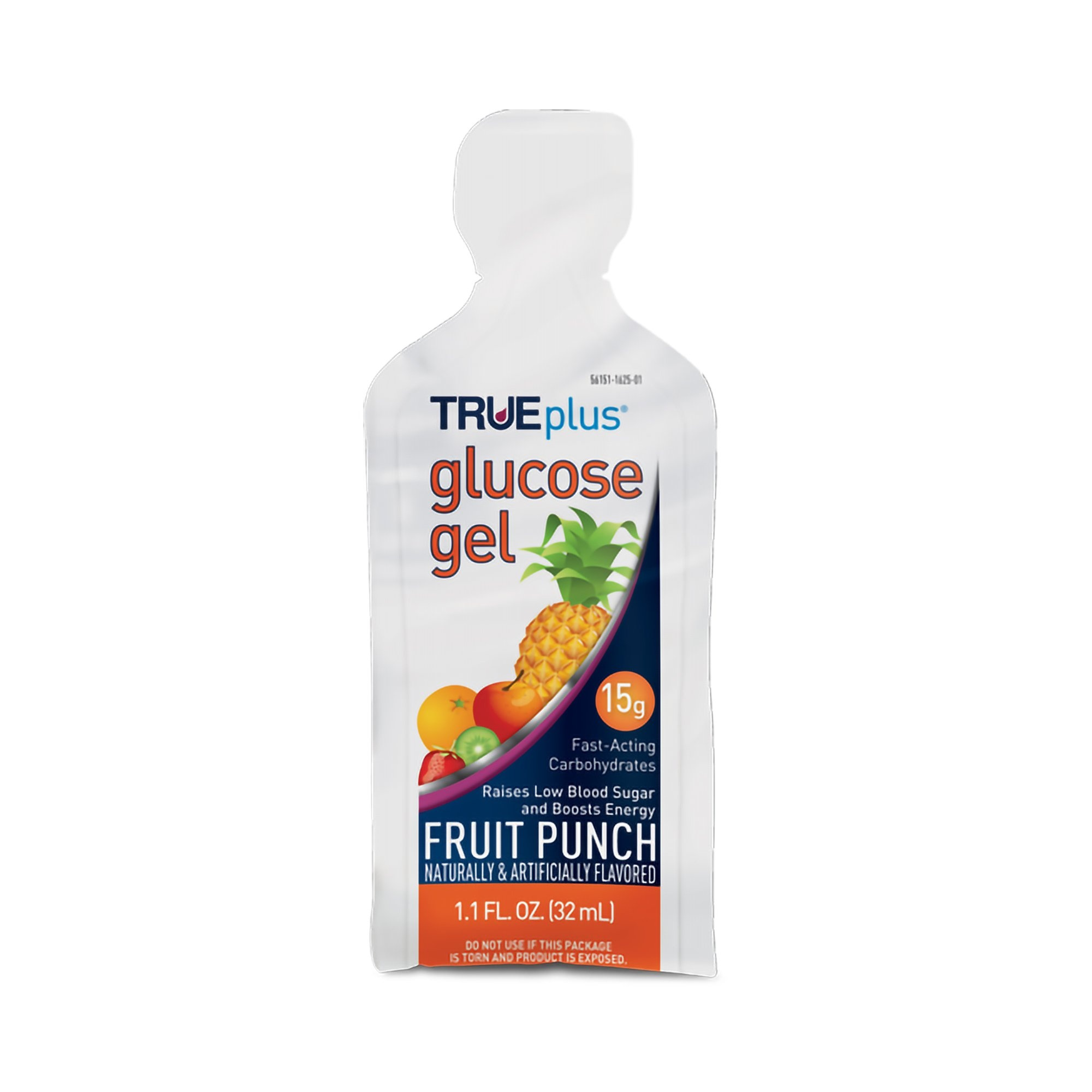 TRUEplus Glucose Gel, Fruit Punch, 1.1 oz., P2H01FP-01, Pack of 6
