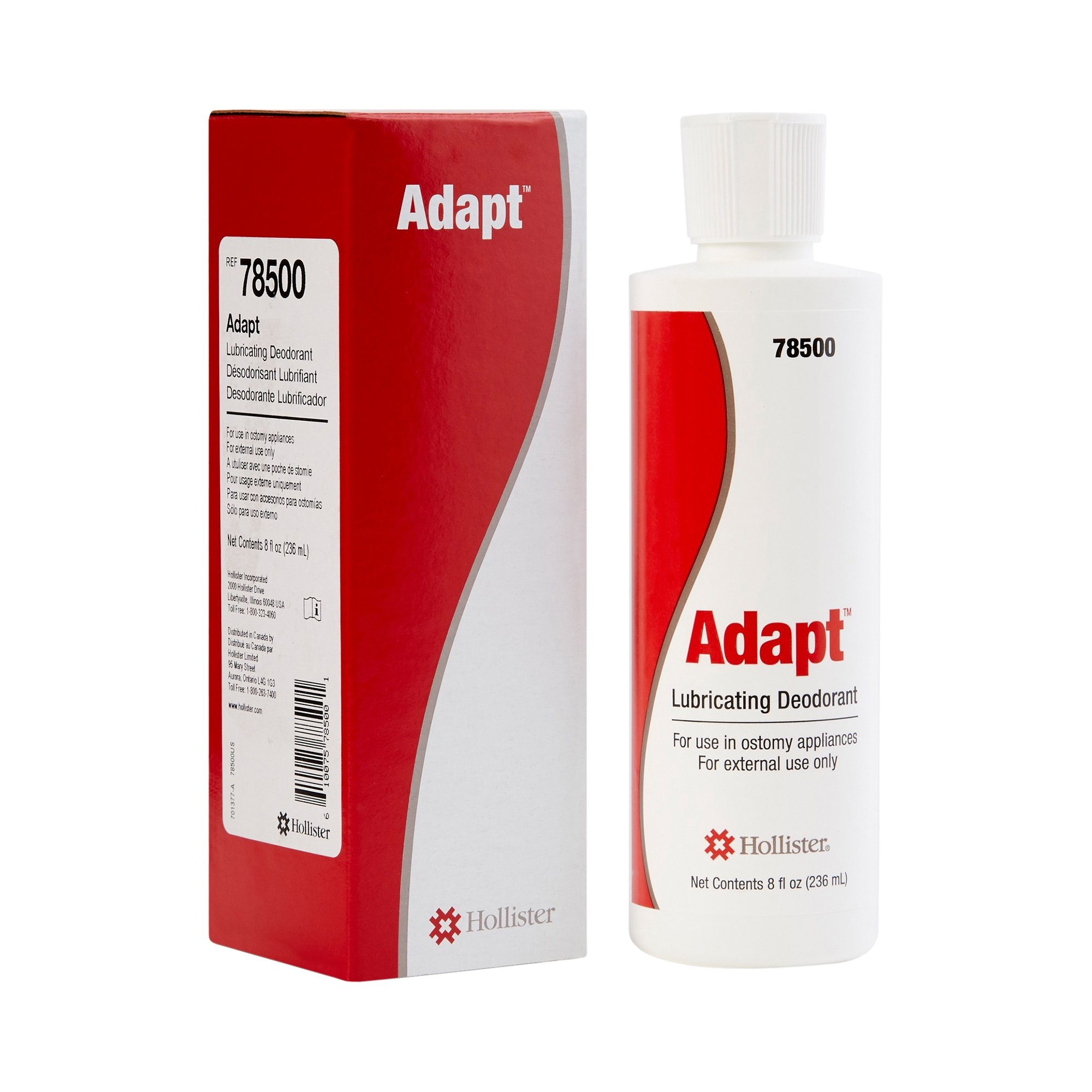 Hollister Adapt Lubricating Deodorant, 8 oz., 78500, 1 Each